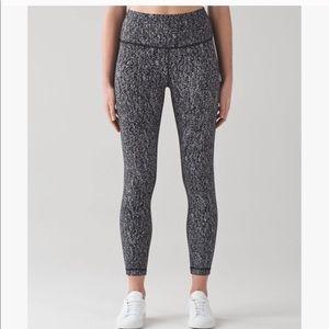 Lululemon Black & White Speckled Leggings
